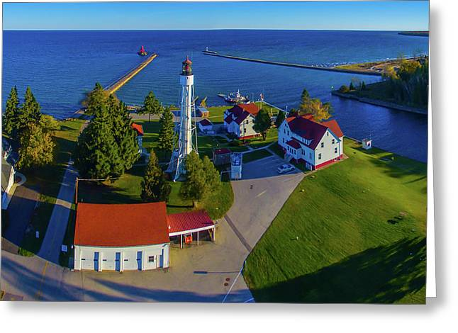 Elevated View Of Sturgeon Bay Canal Greeting Card