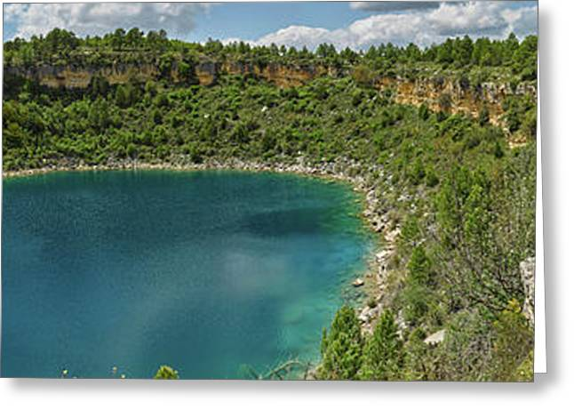 Elevated View Of The Lagoon, Lagunas De Greeting Card