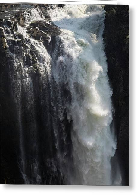 Elevated View Of Waterfall, Devils Greeting Card