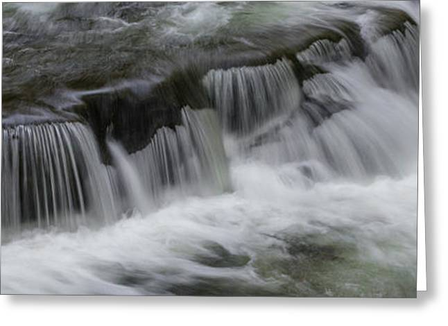 Elevated View Of Waterfall, Middle Greeting Card