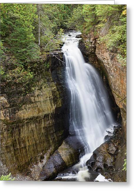Elevated View Of Waterfall, Miners Greeting Card
