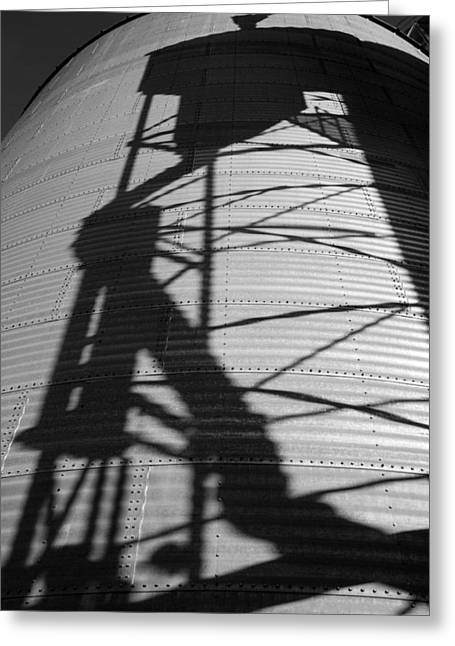 Elevator Shadow Greeting Card