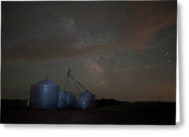 Elevators And Milky Way Greeting Card