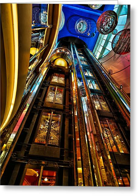 Elevators On The Royal Caribbean Adventures Of The Seas Greeting Card