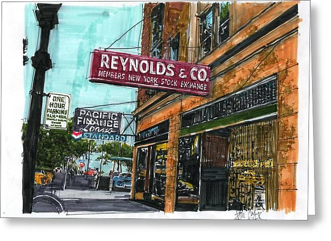 Eleventh And I Streets Greeting Card by Paul Guyer