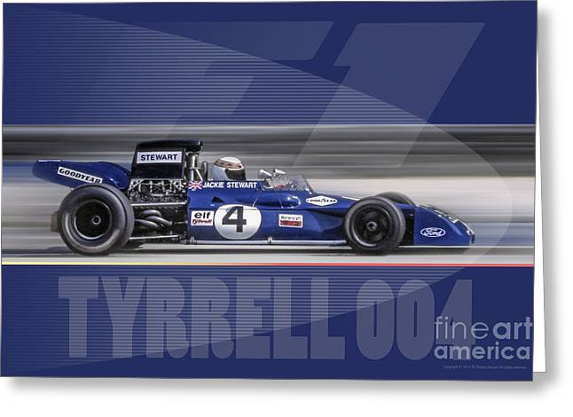 Elf Team Tyrrell 004 Greeting Card