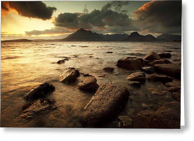 Elgol Greeting Card by Grant Glendinning