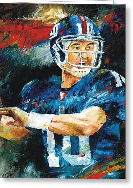 Eli Manning Greeting Card