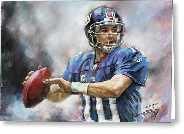 Eli Manning Nfl Ny Giants  Greeting Card