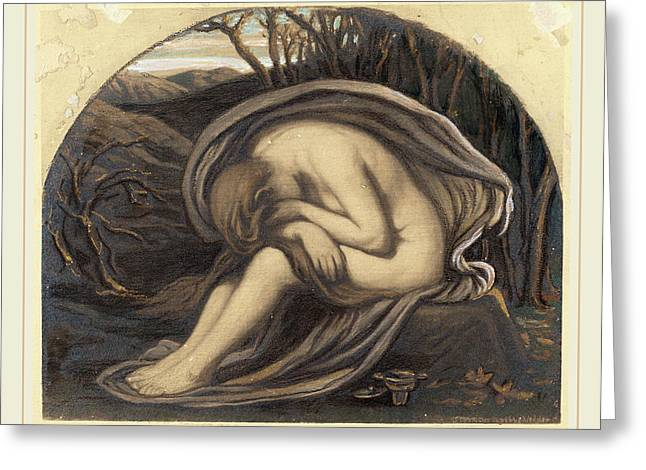 Elihu Vedder, The Magdalene, American, 1836-1923 Greeting Card by Litz Collection