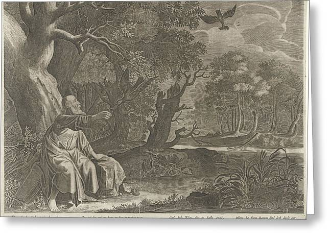 Elijah Fed By Ravens, Pieter Nolpe, Anonymous Greeting Card