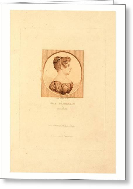 Elisa Garnerin, Aeronaut By Jules Porreau Greeting Card by English School