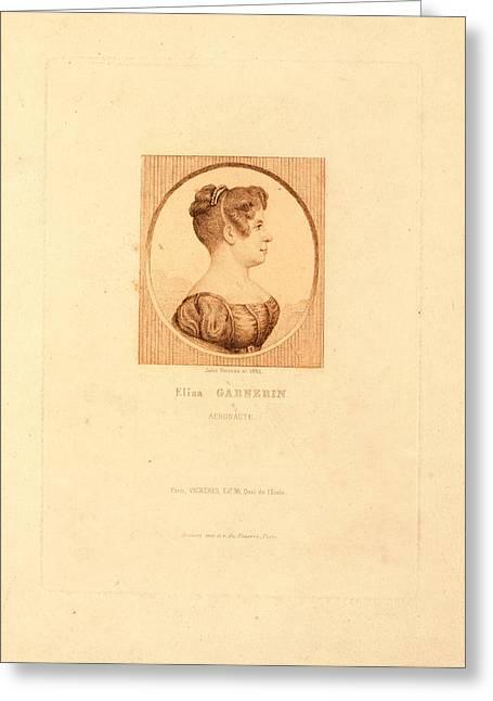Elisa Garnerin, Aeronaut By Jules Porreau Greeting Card by Litz Collection