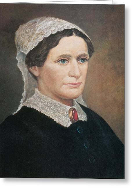 Eliza Johnson, First Lady Greeting Card by Science Source