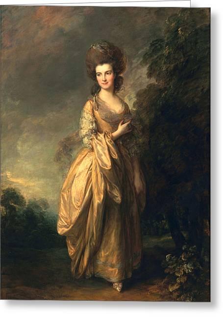 Elizabeth Beaufoy, Later Elizabeth Greeting Card by Thomas Gainsborough