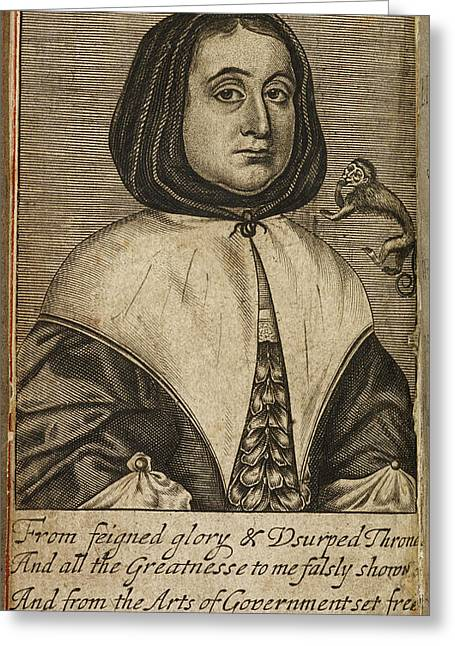 Elizabeth Cromwell Greeting Card by British Library