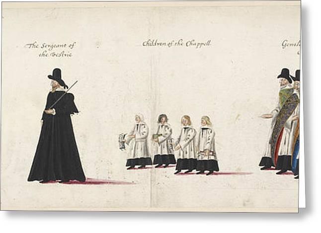 Elizabeth I's Funeral Procession Greeting Card