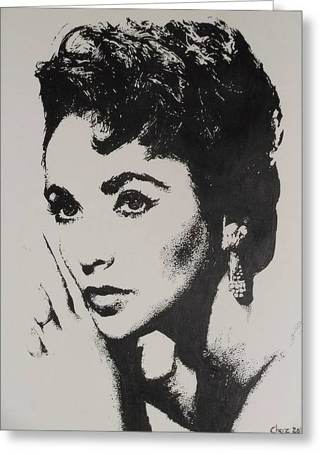 Elizabeth Taylor  Greeting Card by Cherise Foster