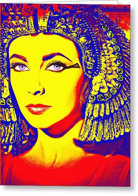 Elizabeth Taylor In Cleopatra Greeting Card by Art Cinema Gallery