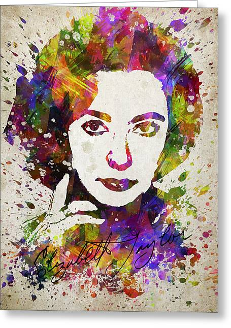 Elizabeth Taylor In Color Greeting Card by Aged Pixel