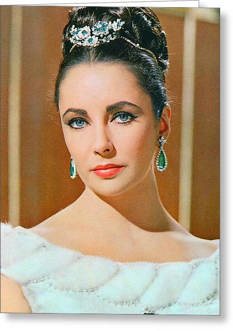 Elizabeth Taylor In The V.i.p.s. Greeting Card by Art Cinema Gallery