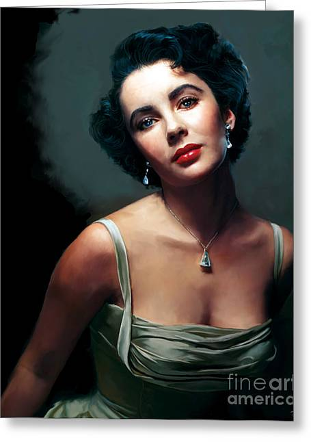 Elizabeth Taylor Greeting Card by Paul Tagliamonte