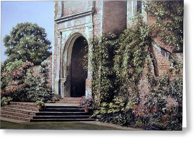 Greeting Card featuring the painting Elizabethan Tower by Rosemary Colyer