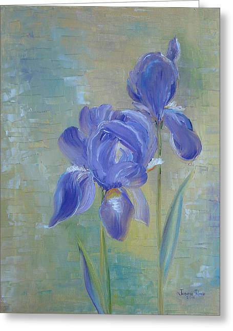 Elizabeth's Irises Greeting Card