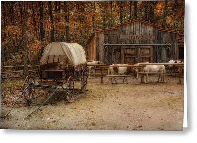 Elk Horn Livery Stable Greeting Card by Robin-Lee Vieira