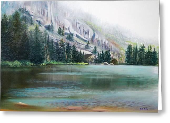 Elk Lake Mist Greeting Card