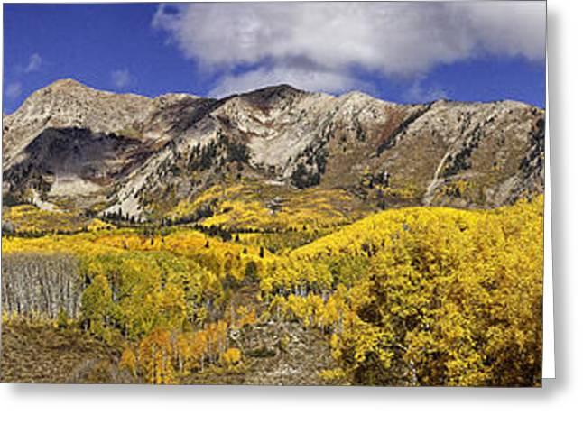 Elk Mountain Panorama Greeting Card