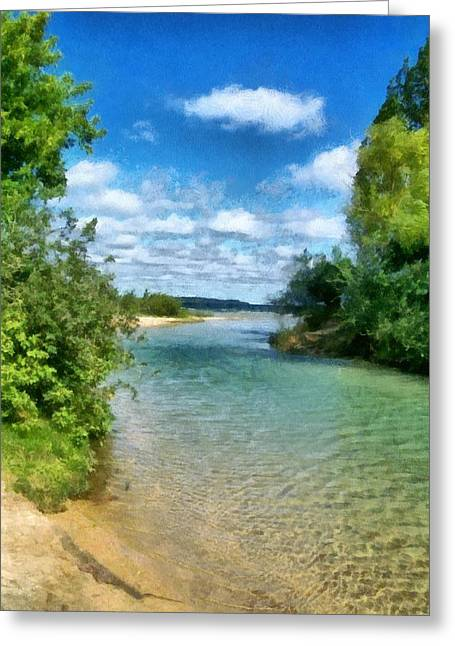 Elk River- Elk Rapids Michigan Greeting Card by Michelle Calkins