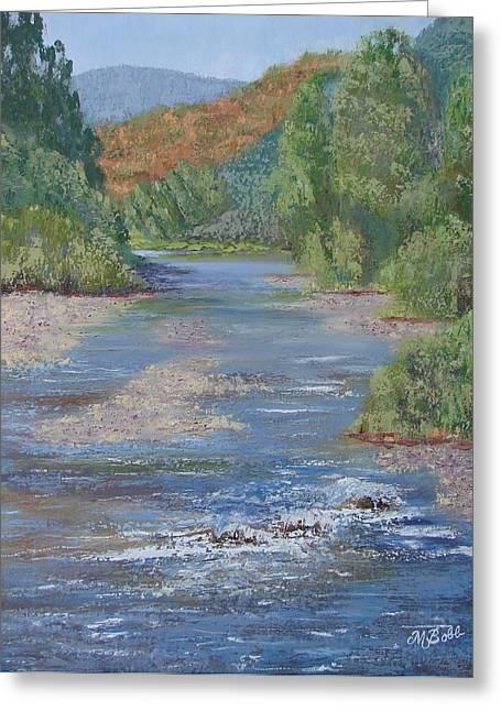 Elk River Greeting Card by Margaret Bobb