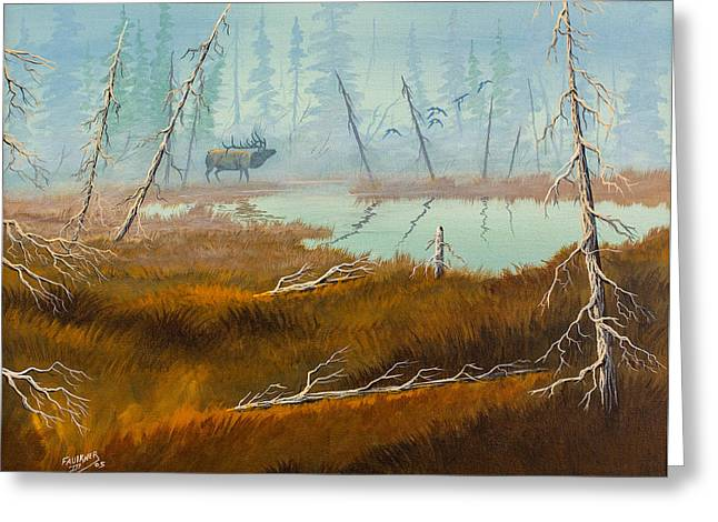 Elk Swamp Greeting Card