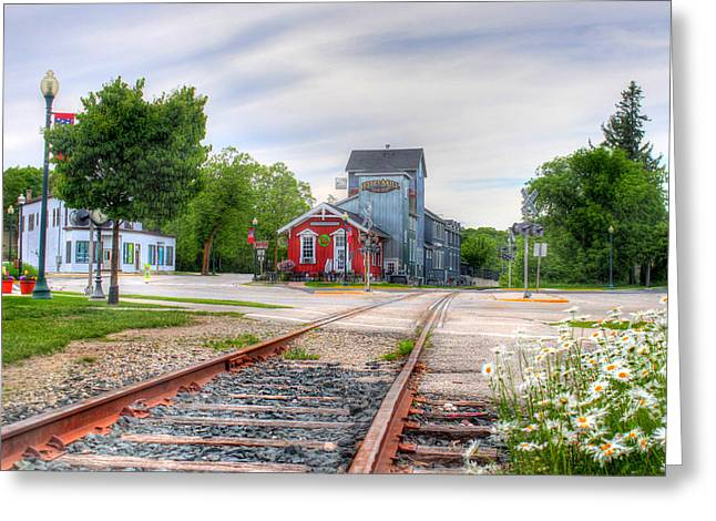 Elkhart Lake Off The Rail And Feed Mill Market Greeting Card
