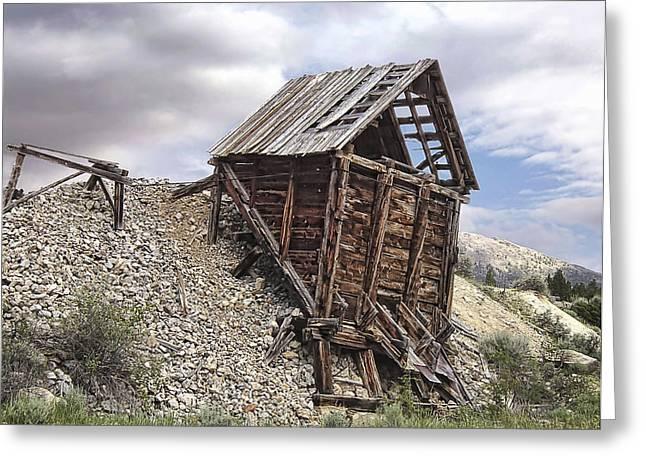 Elkhorn Ghost Town Mine Chute Terminus - Montana Greeting Card by Daniel Hagerman