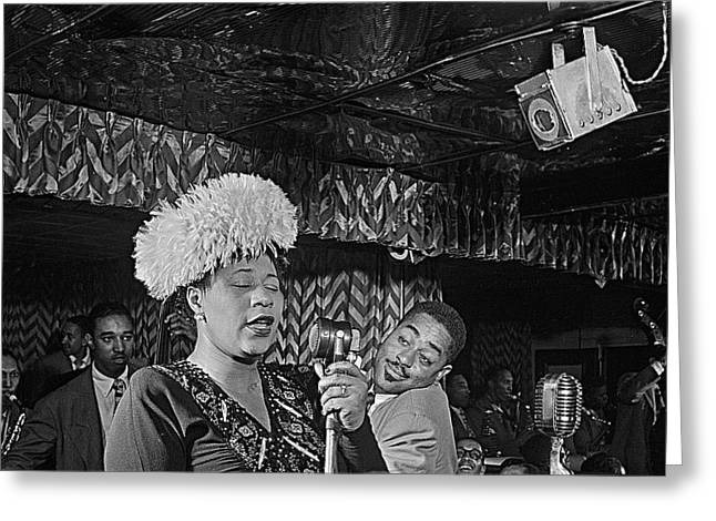 Ella Fitzgerald And Dizzy Gillespie William Gottleib Photo Unknown Location September 1947-2014. Greeting Card