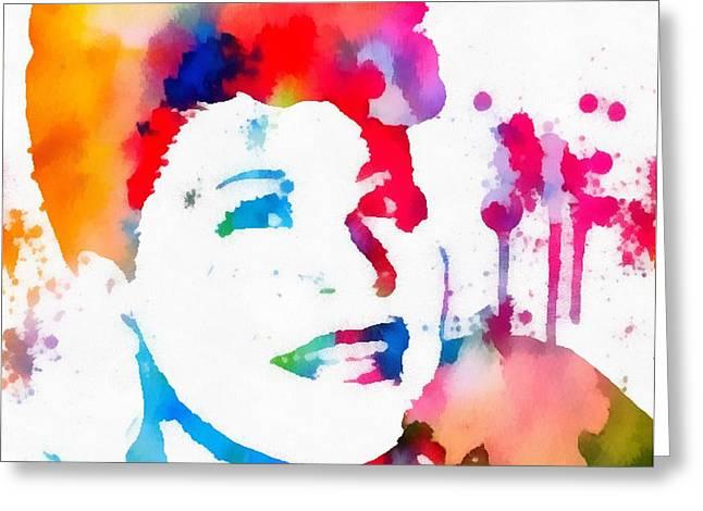 Ella Fitzgerald Paint Splatter Greeting Card