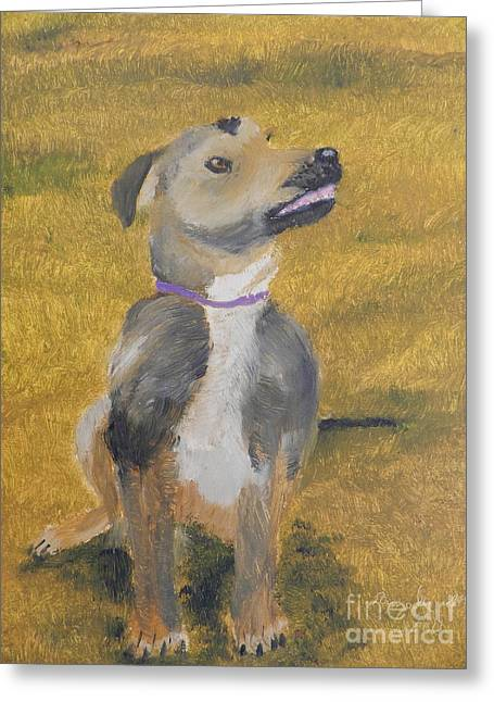 Greeting Card featuring the painting Ella by Pamela  Meredith