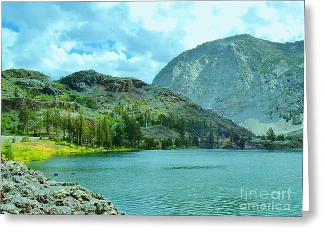 Ellery Lake Greeting Card by Marilyn Diaz