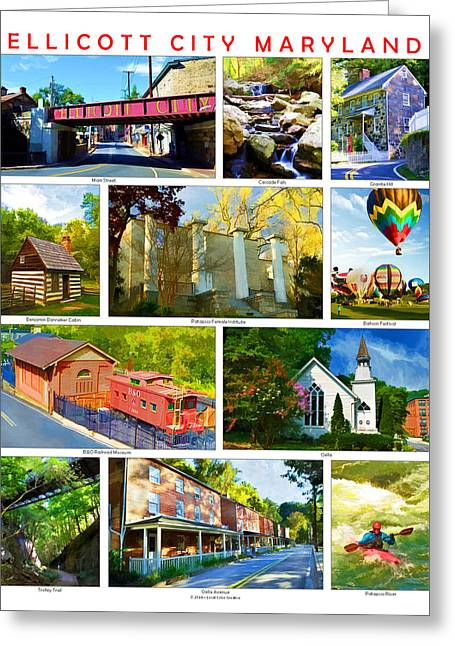 Greeting Card featuring the photograph Ellicott City Maryland by Dana Sohr