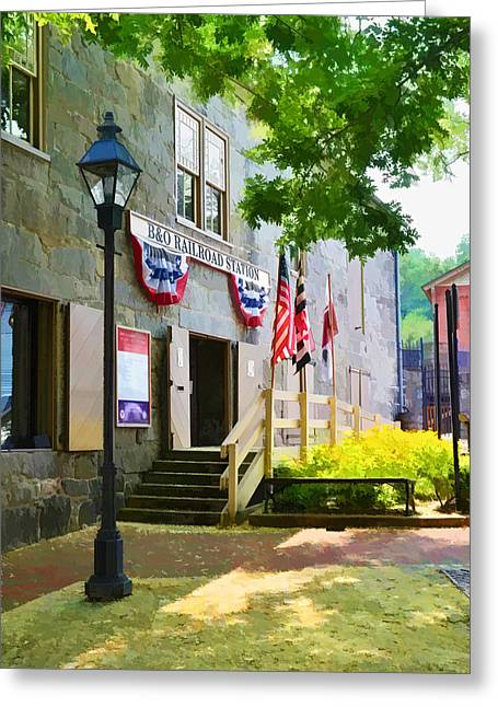 Greeting Card featuring the photograph Ellicott City Station by Dana Sohr