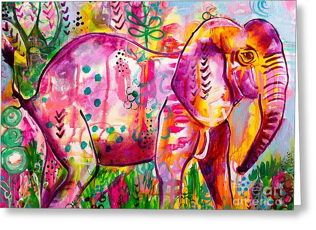 Ellie The Elephant Greeting Card