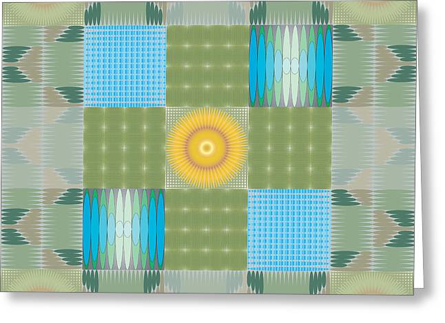 Ellipse Quilt 1 Greeting Card by Kevin McLaughlin