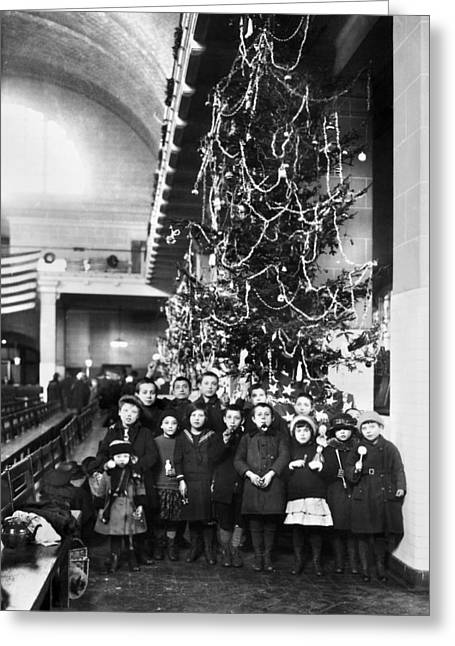 Ellis Island: Christmas, 1920 Greeting Card