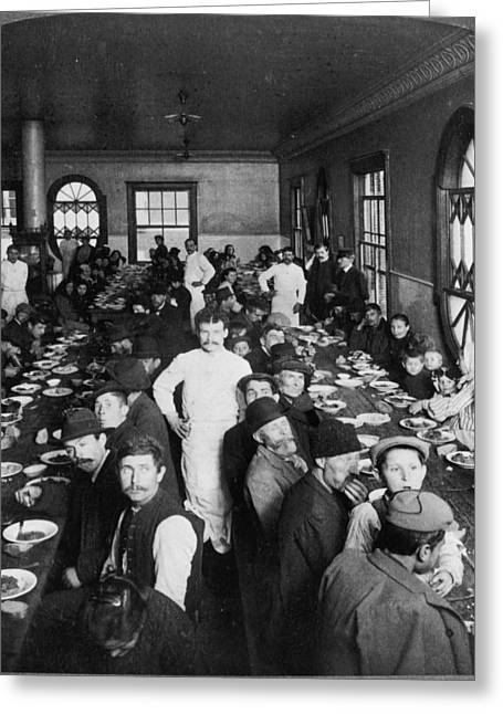 Ellis Island Dining Hall Greeting Card by Granger