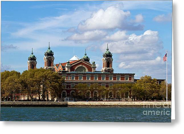 Greeting Card featuring the photograph Ellis Island by Eleanor Abramson