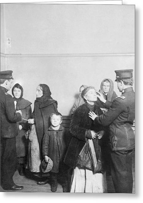 Ellis Island Examination, 1910s Greeting Card by Science Photo Library