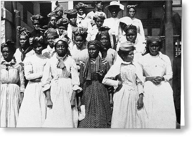 Ellis Island West Indians Greeting Card by Granger