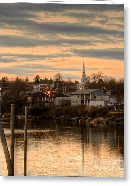Ellsworth Sunset Greeting Card